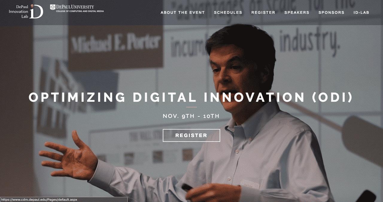 Optimizing Digital Innovation 2017 Conference Website