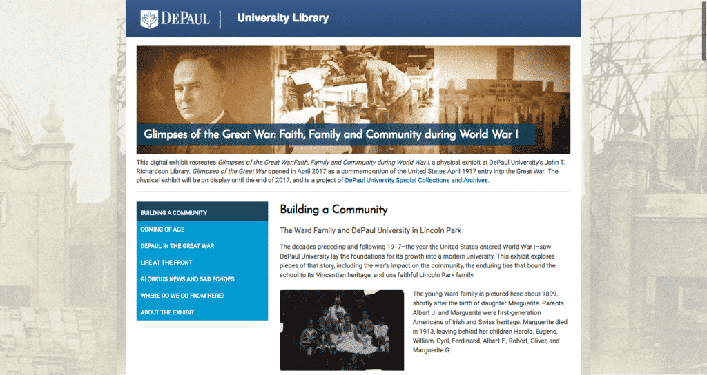 Glimpses of the Great War Website