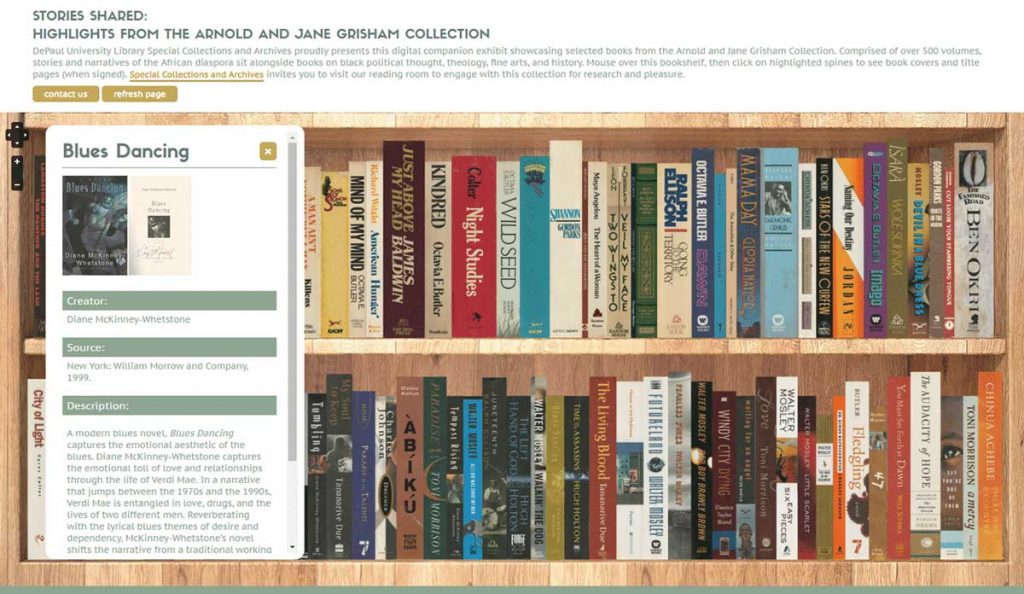 Grisham Digital Bookshelf DePaul Website