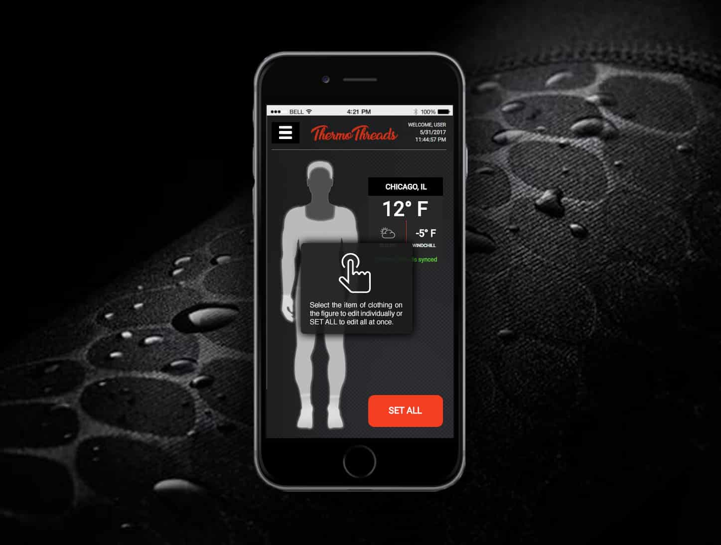 Mobile Prototype App for Thermothreads