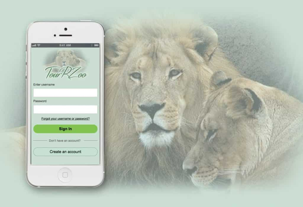 Tour R Zoo Mobile App (Mid-Fidelity Prototype)