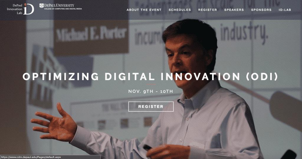 Optimizing Digital Innovation 2018 Conference Website