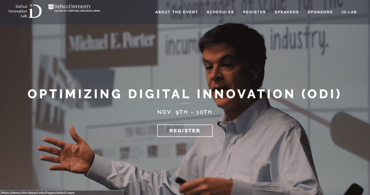 Optimizing Digital Innovation 2017 Conference Website