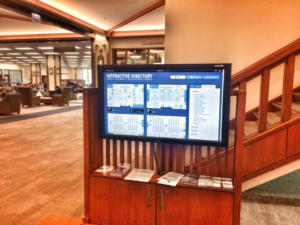 DePaul Library Wayfinding Map